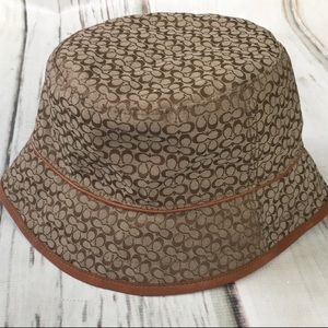 Coach Toffee Bucket Hat Brown Tan Mino Sig Crusher